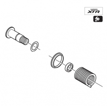 Shimano RD-M970 Plate Axle Assembly Y5VW98040