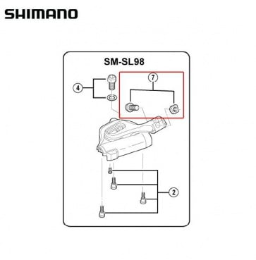 Shimano SL-M980 Shilfter Cover Bolt M5x12.5 Y6T798060