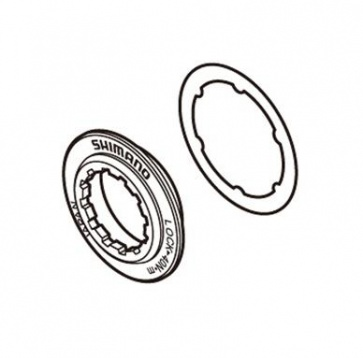 Shimano SM-RT81 lockring and washer Y8K198010