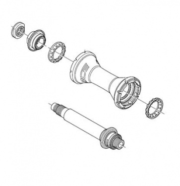 Shimano WH-7850 Hub Axle Assembly Y4EF98010