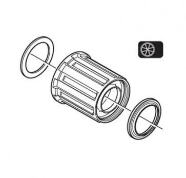 Shimano WH-T560 Freewheel Body Y4CA98050