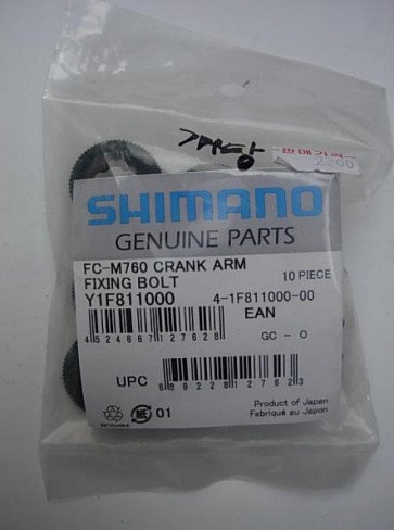 Shimano XT Crank Arm fixing bolt y1f811000