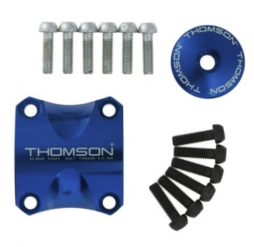 THOMSON X4 DRESS KIT CLAMP/TOP CAP/6 BOLTS BLUE
