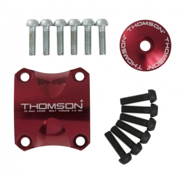 THOMSON X4 DRESS KIT CLAMP/TOP CAP/6 BOLTS RED