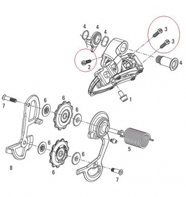 Sram Rear Derailleur B Screw Limit Kit XX