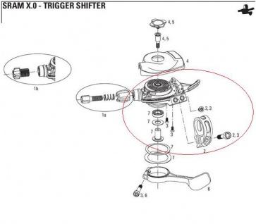 Sram XO Shifter Trigger Bolt Kit 00.0000.200.916