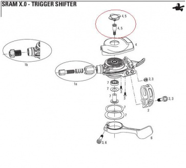 Sram XO Shifter Trigger Cover Top Cap 00.0000.200.929