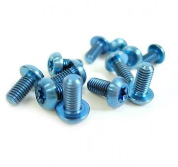 Tiparts Disc Rotor Titanium Bolts 12pcs Blue M5x10