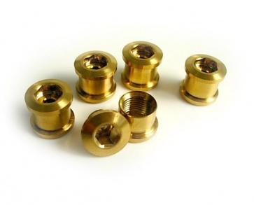 Tiparts Titanium Chainring bolt nut gold 10pc