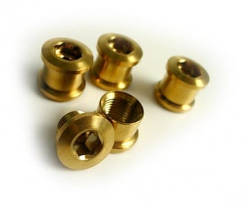 Tiparts Titanium Chainring bolt nut gold 8pc