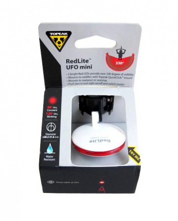 Topeak RedLite UFO Mini-Red Rear Safety Lamp