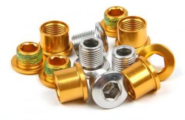 Truvativ 4arm 3 speed Crankset Chainring bolts Gold