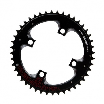 Truvativ 44T 104mm Noir Chainring Red Sram MTB