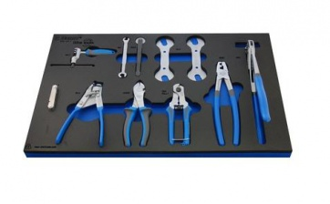 Unior bike tool set in SOS tool tray 1600SOS2