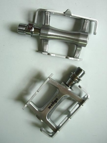 Wellgo Road Bike Bicycle pedals R025B Silver