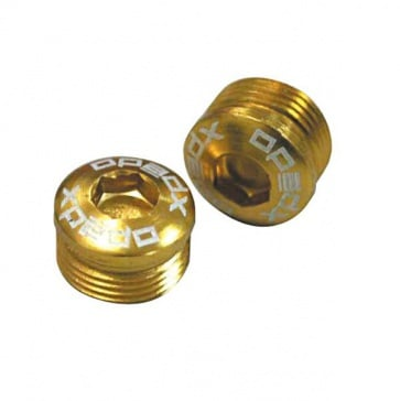 Xpedo MF series pedal end cap gold