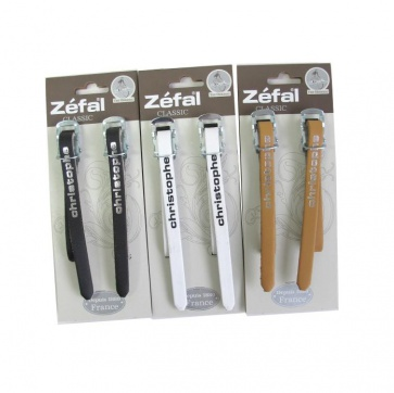 Zefal Christopher Leathe Straps Bicycle Pedals clips 3colors