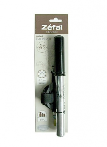 Zefal classic mini lapize pump 87psi 240x22mm aluminum