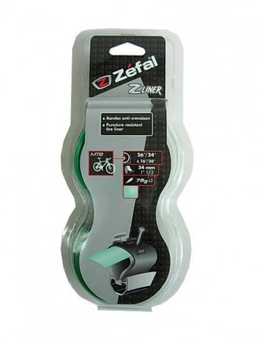 Zefal tire puncture protect liner tape under 26 green