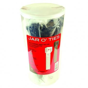 WHEELS MFG ZIP TIES 200mm BLACK JAR/600