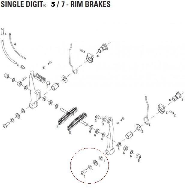 Avid v-brake single digit ultimate