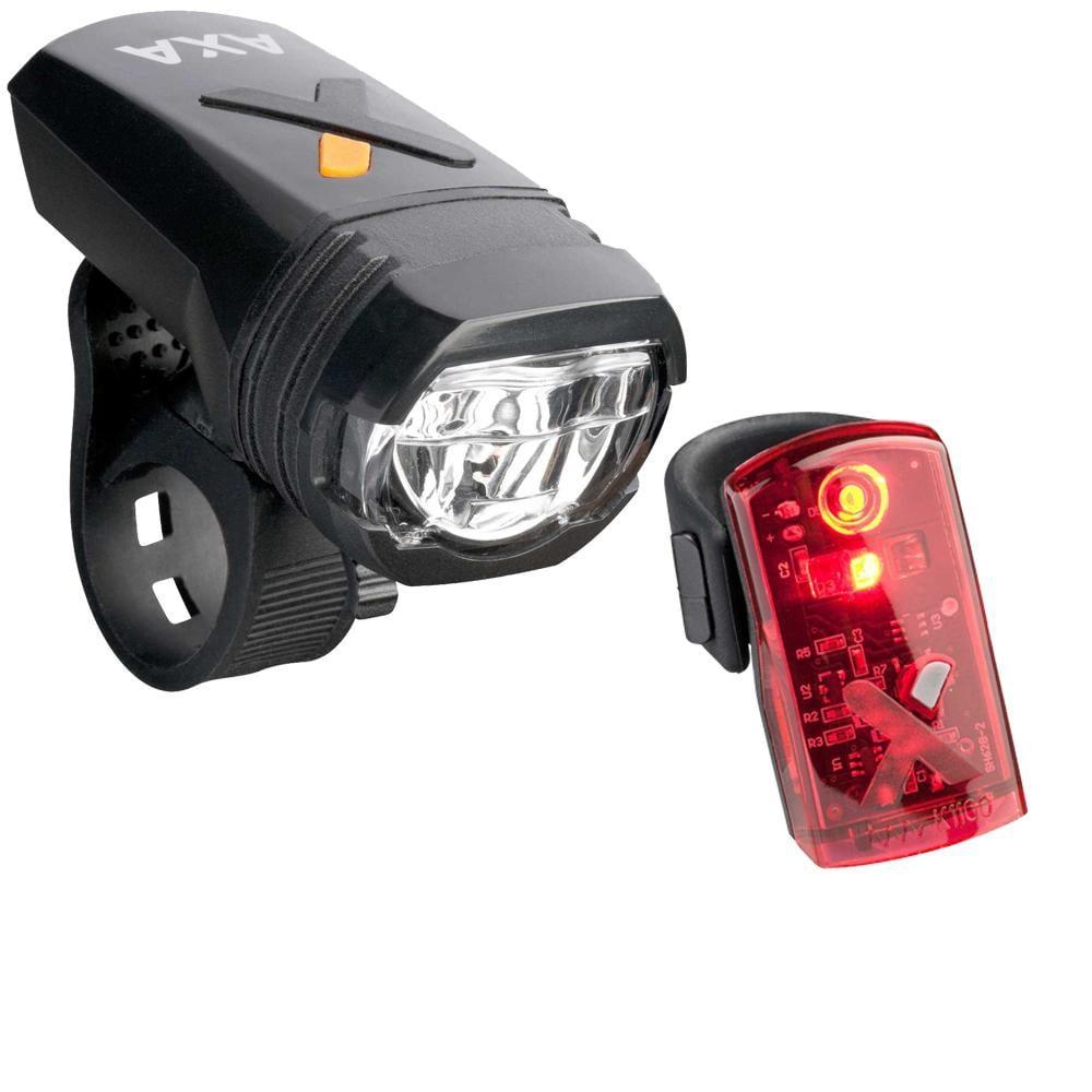 Axa Greenline 50 Lux Front Light + 1 Led Rear Light Set