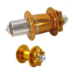 CHRIS KING BIKE BICYCLE ISO DISC HUB SET 6BOLT GOLD
