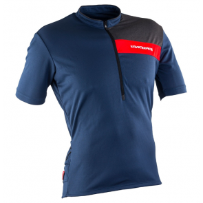 Race Face Podium Jersey Short Sleeve Navy-Flame