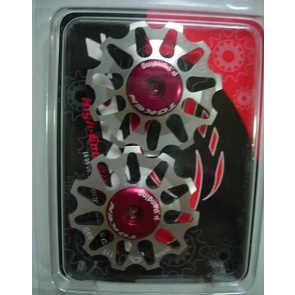 TOKEN ALLOY REAR DERAILLEUR PULLEY SILVER TK1711