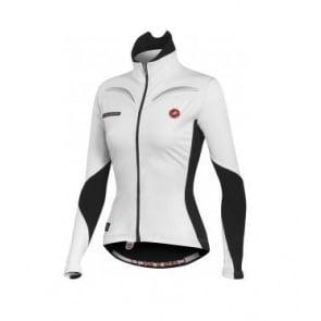 Castelli Transparente wind jersey FZ womens White Black