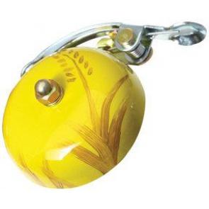 Crane Painted Suzu Bell autumn Yellow