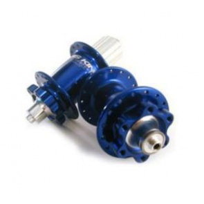 CHRIS KING BIKE BICYCLE ISO DISC HUB SET 6BOLT BLUE