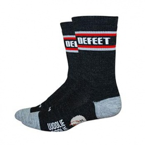 "DEFEET WOOLIE BOOLIE 6"" ALL MOUNTAIN CHARCOAL/RED SOCK XL"