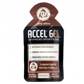 ACCEL GEL CHOCOLATE w/ CAFFEINE 24/BOX