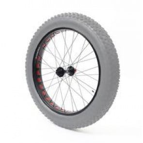 Anvil Square Rolls Complete Wheel Set Rear 190mm QR Hub 82Rim Silver