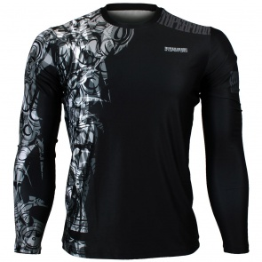 Btoperform Tribal Statue Full Graphic Loose-fit Long Sleeve Crew neck Shirts FR-146