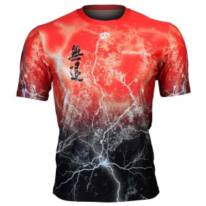 Btoperform No Retreat Thunder Red Full Graphic Loose-fit Crew neck T-Shirts FR-303R