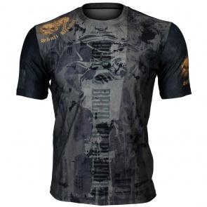 Btoperform Skull Breaker Full Graphic Loose-fit Crew neck T-Shirts FR-356
