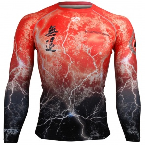 Btoperform No Retreat Thunder Red FX-103R Compression Top MMA Jersey Shirts