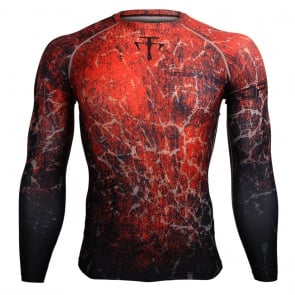 Btoperform Grunge Red FX-107R Compression Top MMA Jersey Shirts