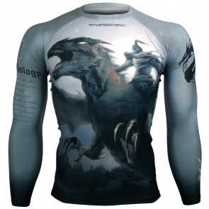 Btoperform The Dragon Knight FX-114 Compression Top MMA Jersey Shirts