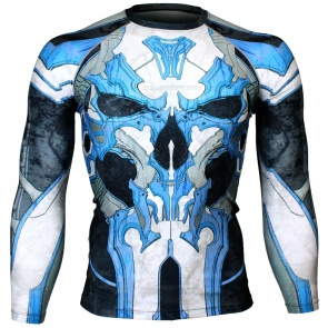 Btoperform Golden Army - Blue Full Graphic Compression Long Sleeve Shirts FX-131B