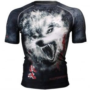 Btoperform Wolf Spirit Full Graphic Compression Short Sleeves Shirts FX-310