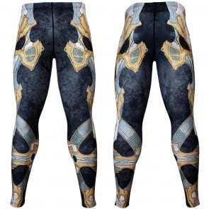 Btoperform Golden Army - Yellow Full Graphic Compression Leggings FY-131Y