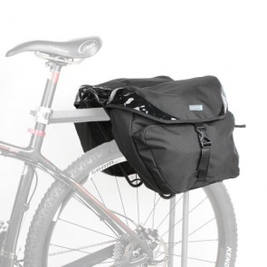 Lotus Bicycle Rear Rack Pack Black Edition 25L Panniers