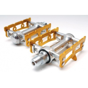 MKS Sylvan Track bicycle Pedals Gold