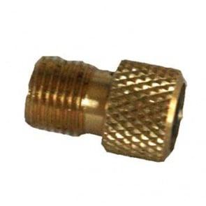 Koolstop Presta Valve to Schrader Adapter Brass Bult Back 12pcs