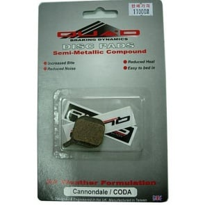 Quad Cannondale Coda Bicycle Disc Brake pads Shoes