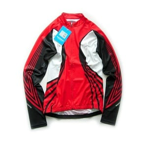 Shimano Long Sleeve 3 Season Cycling Jersey Red