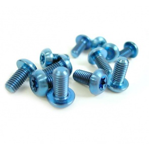 Tiparts Disc Rotor Titanium Bolts 12pcs Blue M5x10